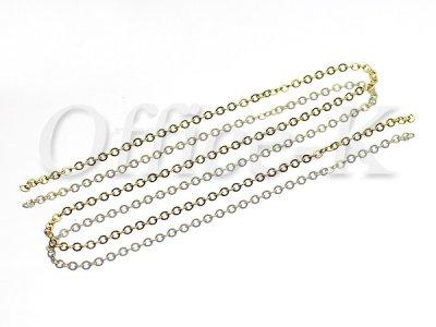 画像2: つぶし小判(平小豆)型チェーン 18金メッキ 線径0,45MM 約10M
