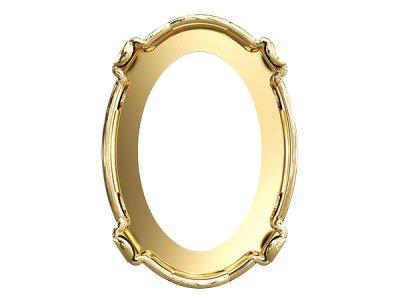 ◆粒売り◆4120 MM 8,0X 6,0  穴有り専用金具ゴールドメッキ1粒