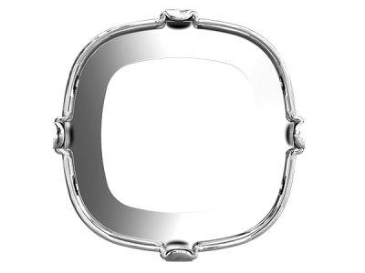 ◆粒売り◆4470 MM10,0  穴有り専用金具ロジウムメッキ1粒