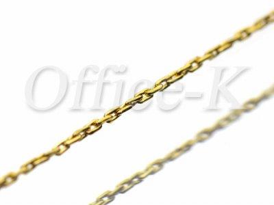 ボックスチェーン超極細(ダイヤモンドカット)18金メッキ 幅約0,6MM 約10M